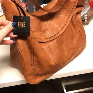 Amazing deep tan Frye bag